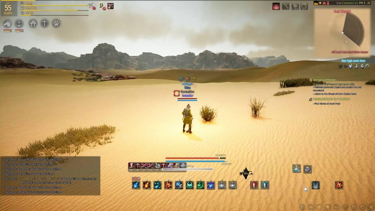 15-20 Million an Hour Digging in Black Desert Online!