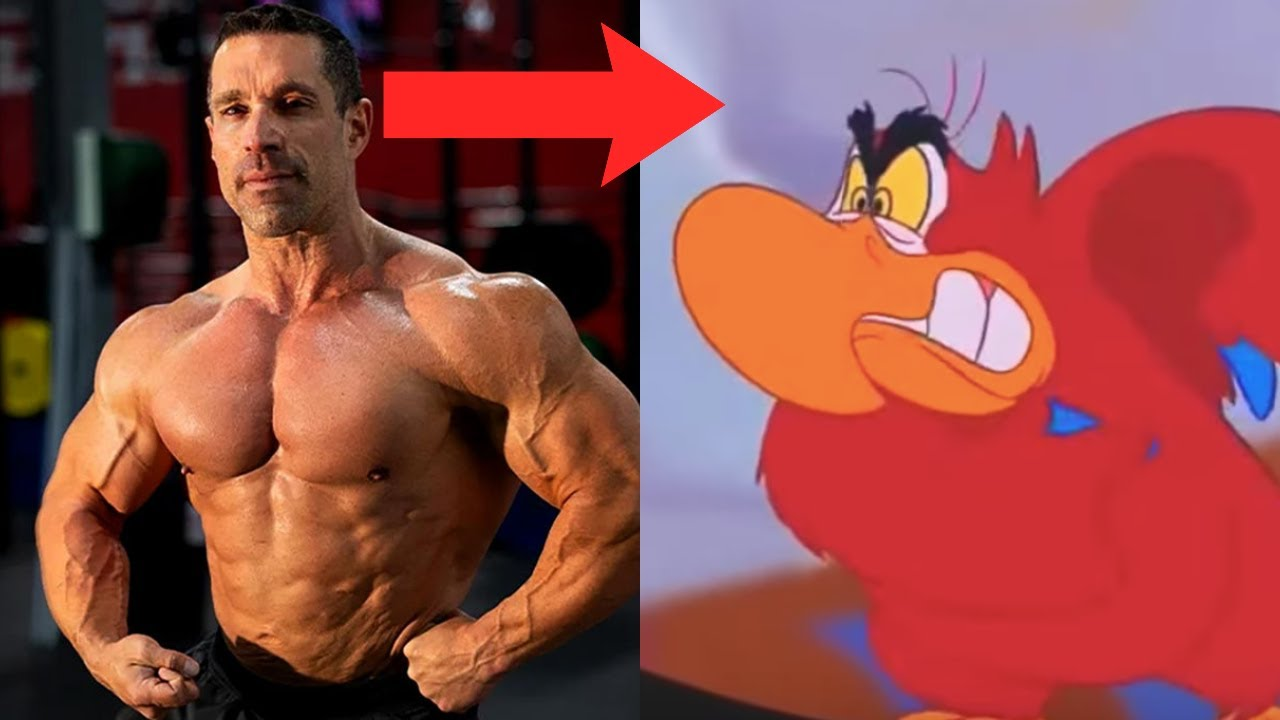 Aladdin, but Greg Doucette is the parrot