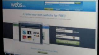 كيفية إنشاء webs.com الموقع