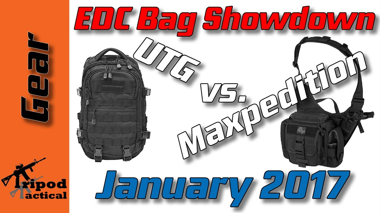 ea913dc2f84 EDC Bag Showdown - Maxpedition Jumbo Versipack vs. UTG 24 7 Cross Body  Sling Pack