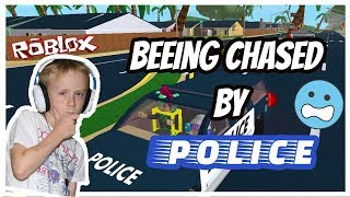 POLICE CHASE!! (Roblox Ultimate Driving: Westover Islands)