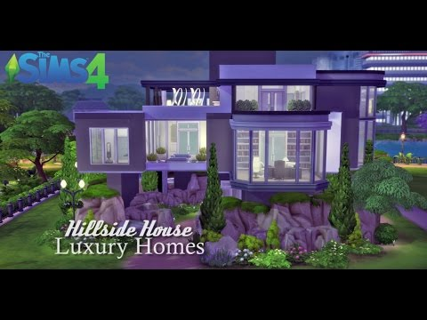 The Sims 4 - Speed Building - (Hillside House) Luxury Homes