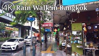 Download [4K] Walking in the Rain around Asok Area in Bangkok, Thailand