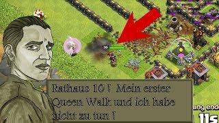 RATHAUS 10 ICH HABE NICHTS ZUTUN UND ÜBE QUEEN WALK DAS ERSTE MAL ! - CLASH OF CLANS