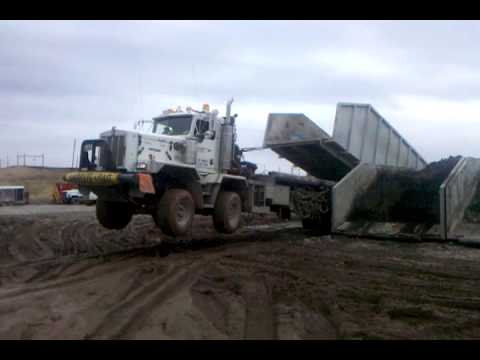 Oilfield bedtruck wheelie