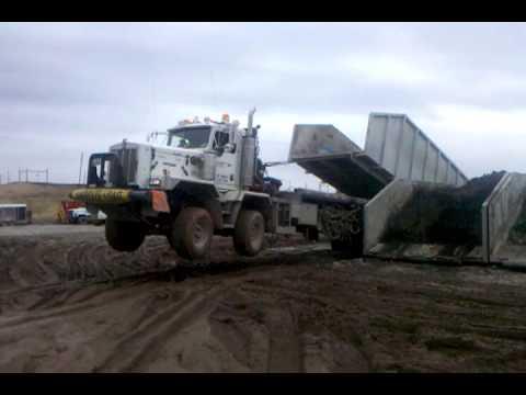 Oilfield bedtruck wheelie