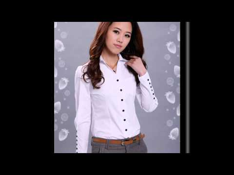 Женские белые рубашки