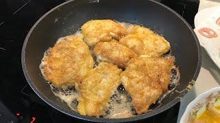 Как пожарить куриные отбивные на сковородке . Куриное филе в яйце . Все что можно съесть