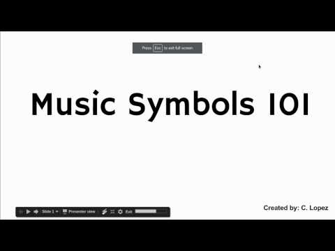 Music Symbols 101 with Mr Lopez