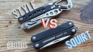 brutus porwnuje Leatherman Squirt PS4 i Style PS