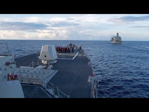 Thumbnail: US destroyer in South China Sea