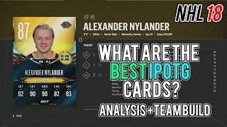 What are the best iPOTG cards in NHL 18 HUT? Overview Analysis + Team Build!