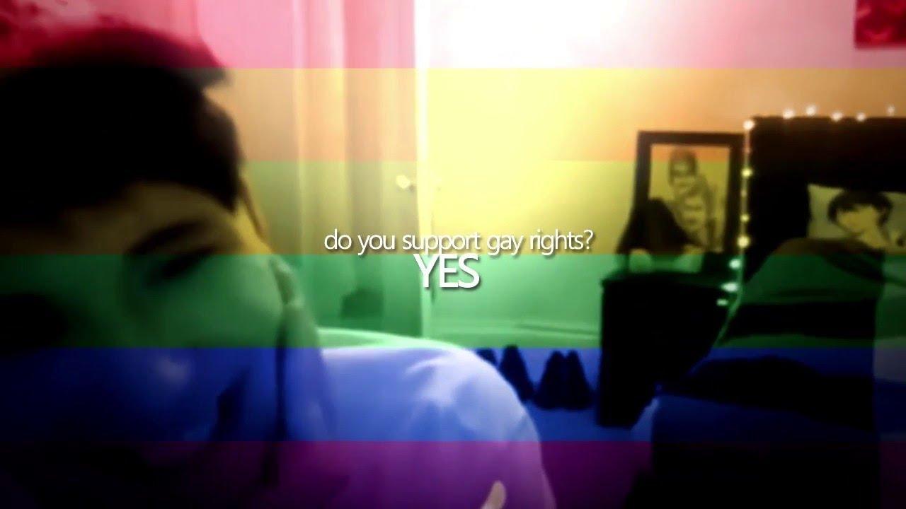 Gay support blue light