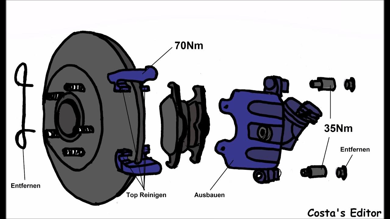 ford focus 1 6 tdci 80kw 109ps bremsen hinten wechseln mit. Black Bedroom Furniture Sets. Home Design Ideas