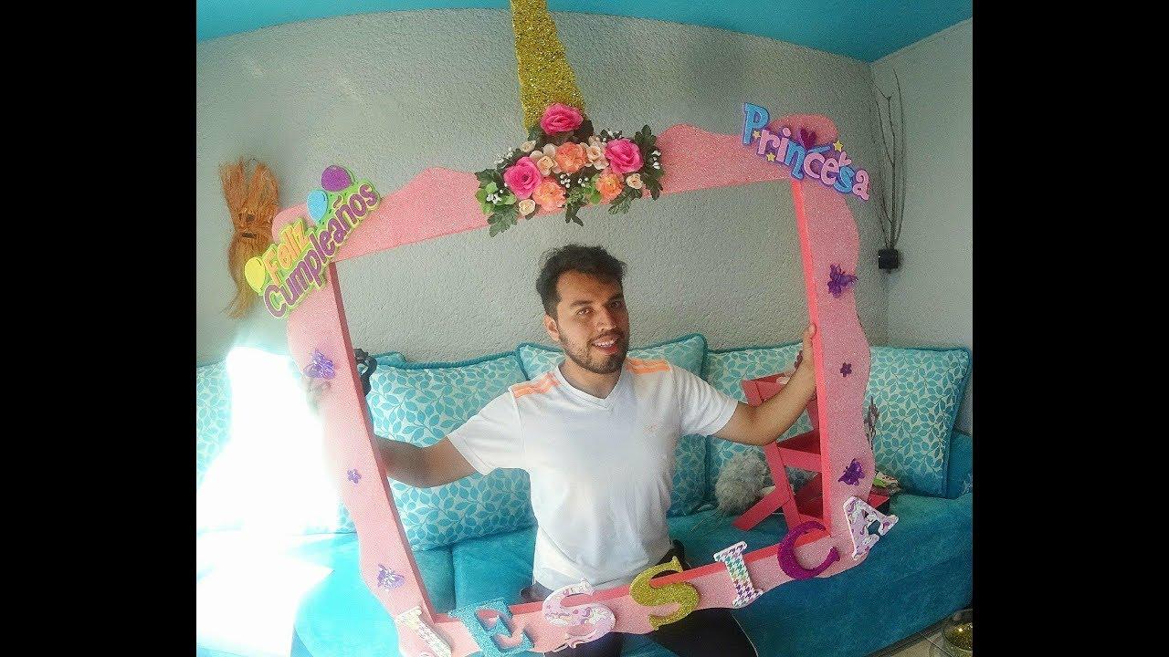 Diy Como Hacer Un Cuadro Selfie Unicornio Youtube