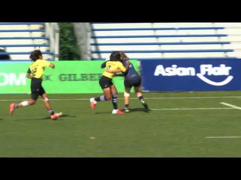 2017 Asia Rugby U20 Sevens Womens Hong Kong Match 46 Thailand vs. Hong Kong