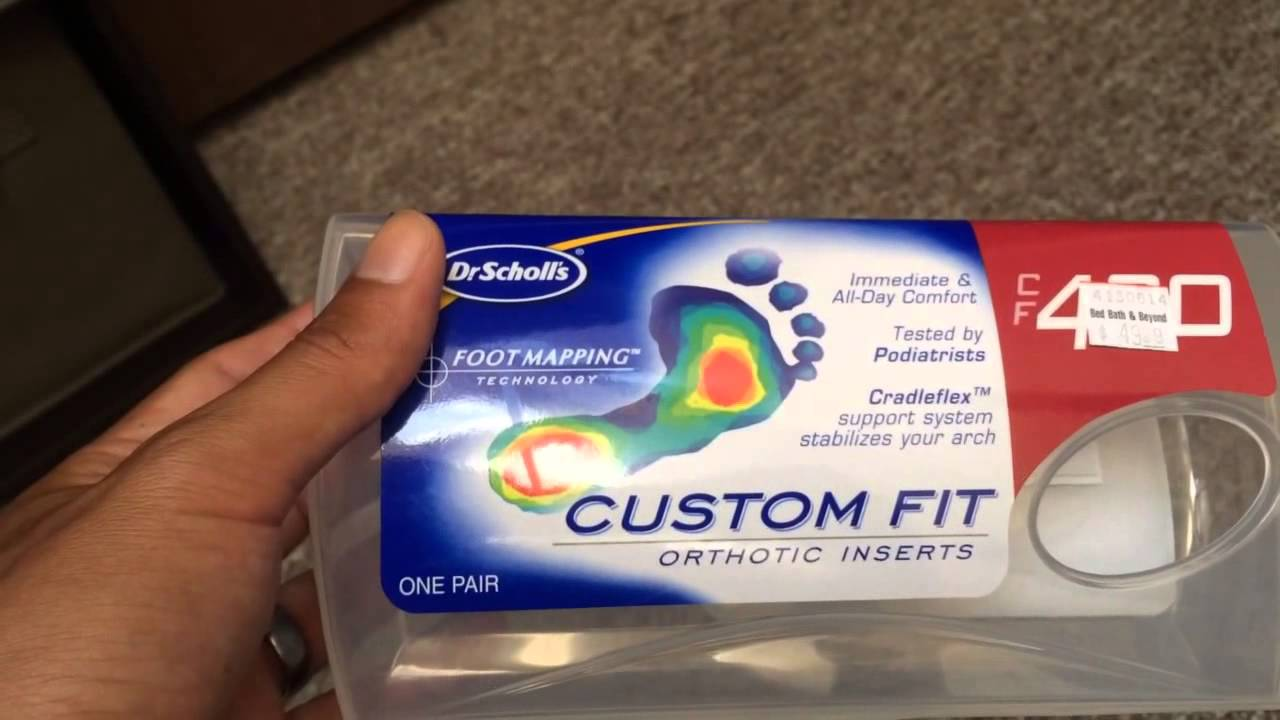 Dr. Scholl's Custom Fit Orthotic Inserts Review - YouTube on