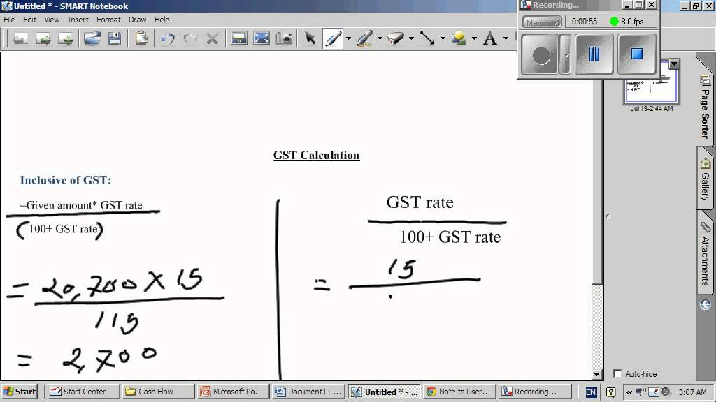how to find out the gst amount