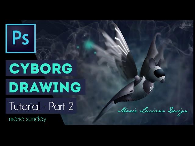 Photoshop CC Cyborg Illustration Tutorial 2018 - Part 2