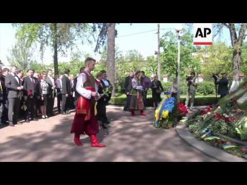 Tymoshenko and Turchynov visit Chernobyl monument on 28th anniversary of disaster