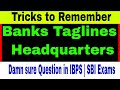 Tricks on All Bank Taglines & Headquarters | Total Banks in 1 Video