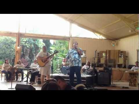 Kauai Mayor sings at Re-Elect Senator Ronald D. Kouchi Fundraiser