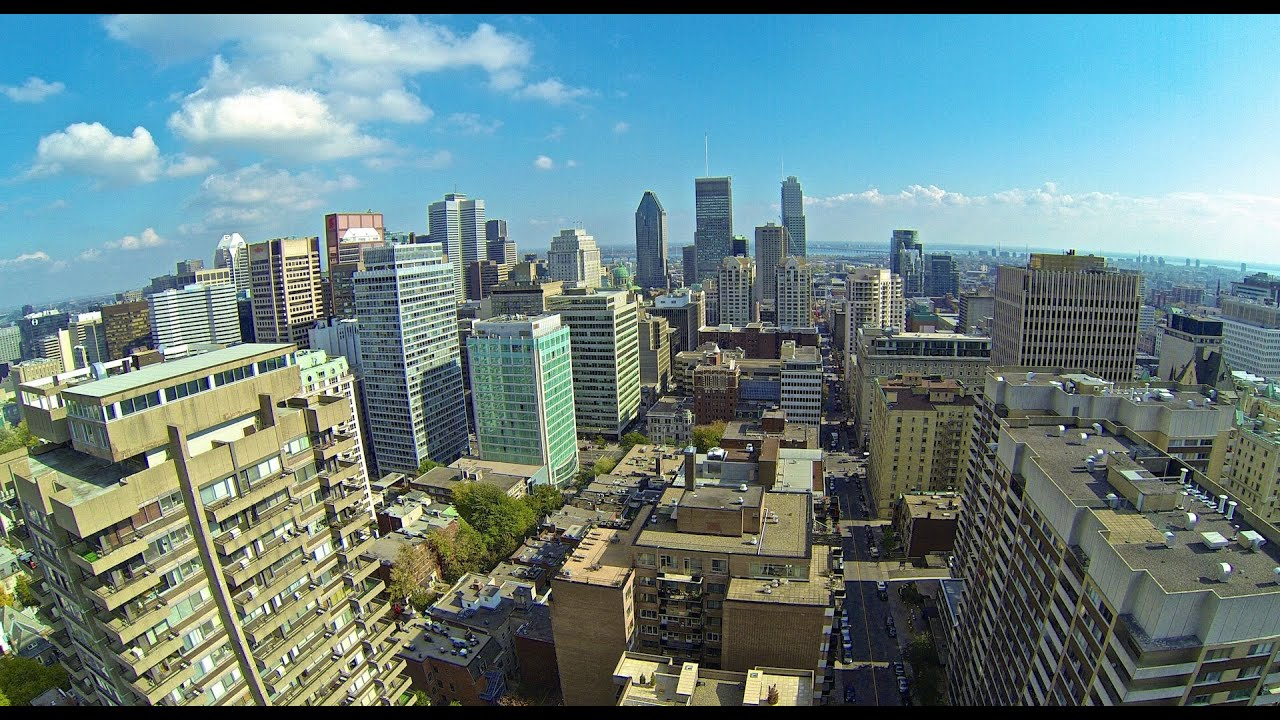Downtown Montreal Aerial Views Youtube