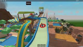ROBLOX: a DAY at the WATER PARK DOWN in EXTREME WATER SLIDES!