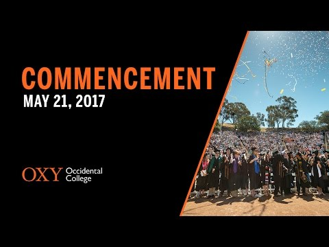 2017 Occidental College Commencement Ceremony