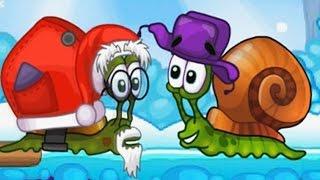УЛИТКА БОБ Зимнее приключение #2 - Спасти Санта Клауса - Мультик ИГРА для ДЕТЕЙ