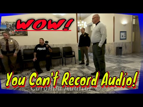 You Can't Record Audio! It's The Law!  New Hanover Sheriff Department NC 1st Amendment Audit