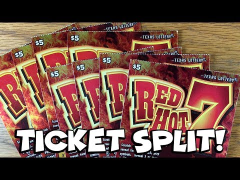 8X Red Hot 7s! TICKET SPLIT ✦ TEXAS LOTTERY Scratch Off Tickets