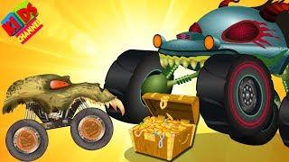 Haunted House Monster Truck in treasure heist Halloween special video by Kids Channel