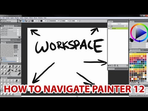 Corel Painter: Navigating & Customizing the Workspace (Tutorial)