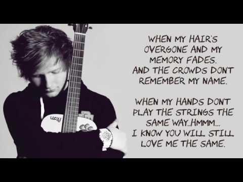 Ed Sheeran Thinking Out Loud  Lyrics
