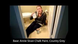 Painting Linoleum or Vinyl Floors with Annie Sloan Chalk Paint and Lacquer