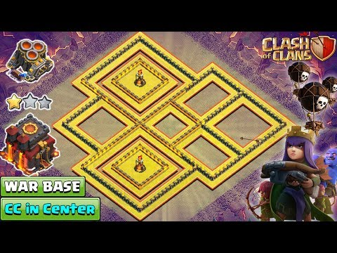 NEW TH10 War Base 2018 Anti Queen Walk   TH10 Base With CC In Center   Anti Bowler   Clash Of Clans