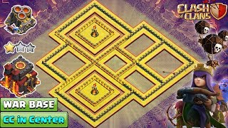 NEW TH10 War Base 2018 Anti Queen Walk | TH10 Base with CC in Center | Anti Bowler | Clash of Clans
