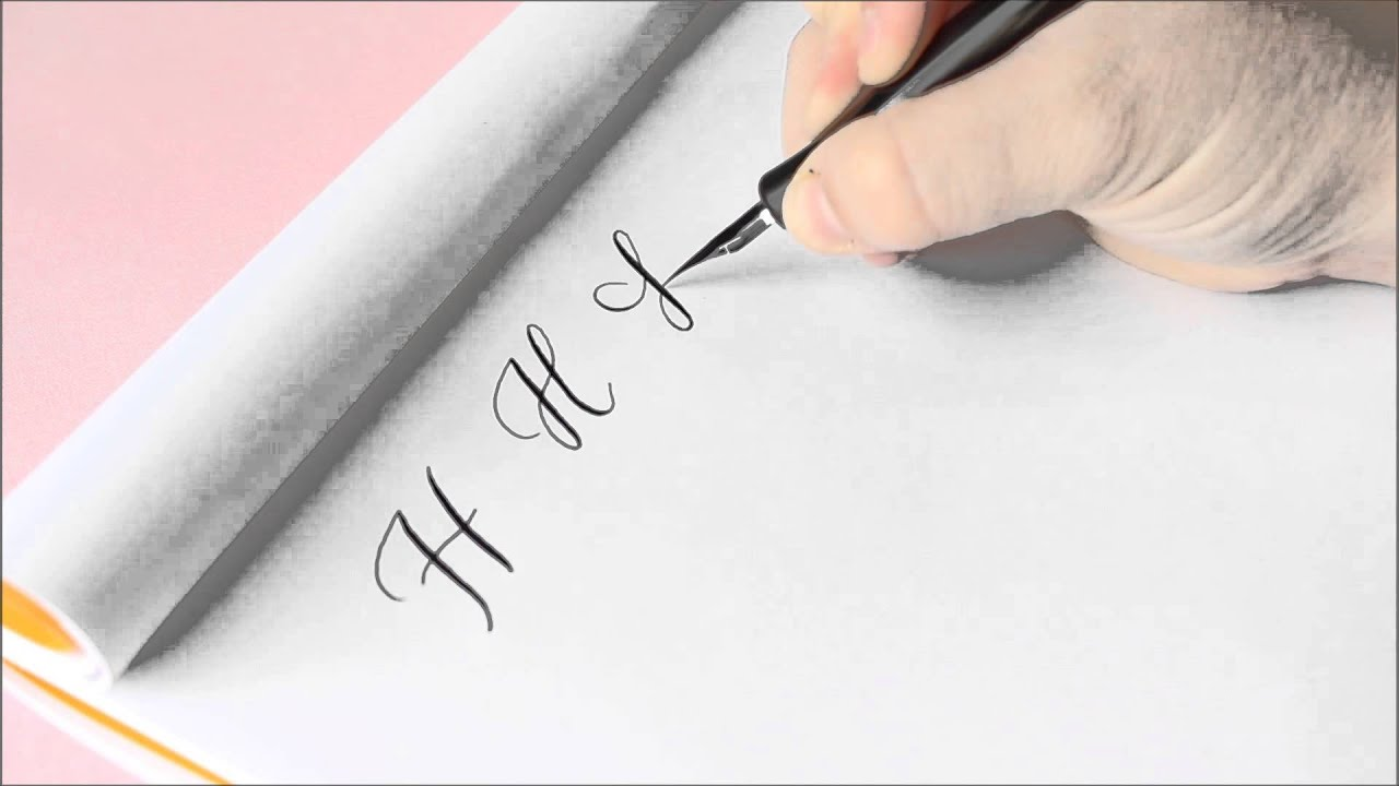 The letter h basic calligraphy tutorial youtube Calligraphy youtube