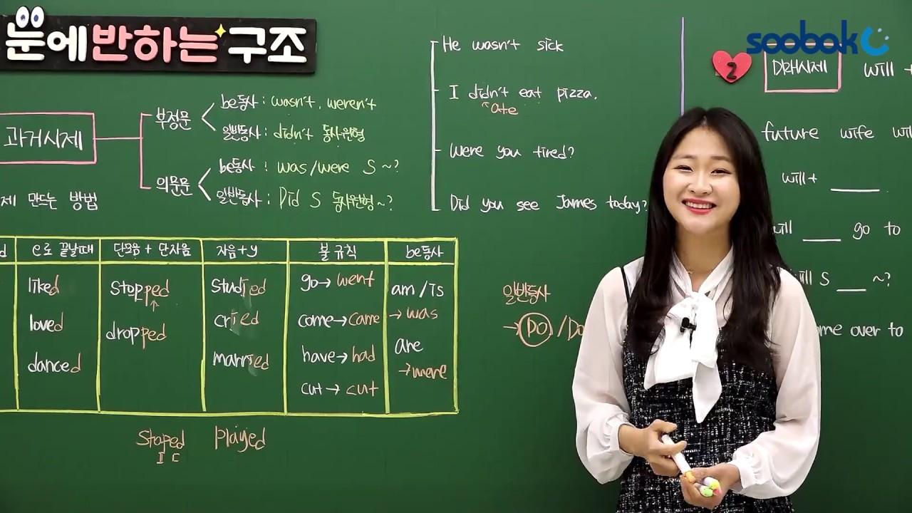 [중등인강/중1 영어] 과거시제_동사의 과거형 - 수박씨닷컴 홍재원선생님