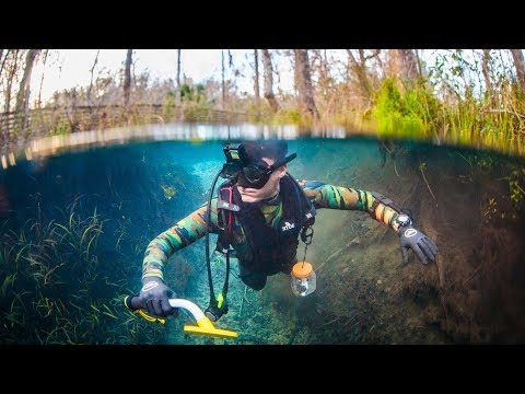 Found Money, Diamond and Ring While Underwater Metal Detecting! (Crystal Clear Water) | DALLMYD