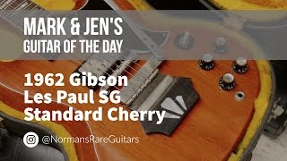 norman s rare guitars guitar of the day 1962 gibson les paul sg standard