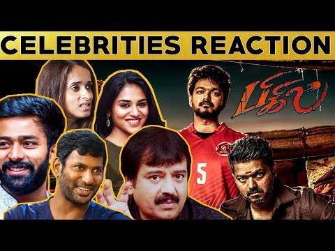 Thalapathy வெறித்தனம் 🔥🔥 Celebrities Reaction About BIGIL First Look | Vijay | Atlee | #Nettv4u