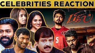 Thalapathy வெறித்தனம் 🔥🔥 Celebrities Reaction About BIGIL First Look | Vijay | Atlee | #Nettv4u