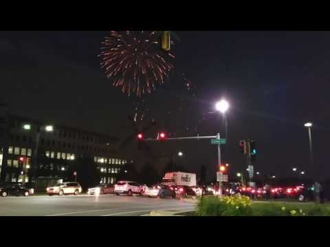 4th of July Fireworks at Maine East high school ( fyerwerki )