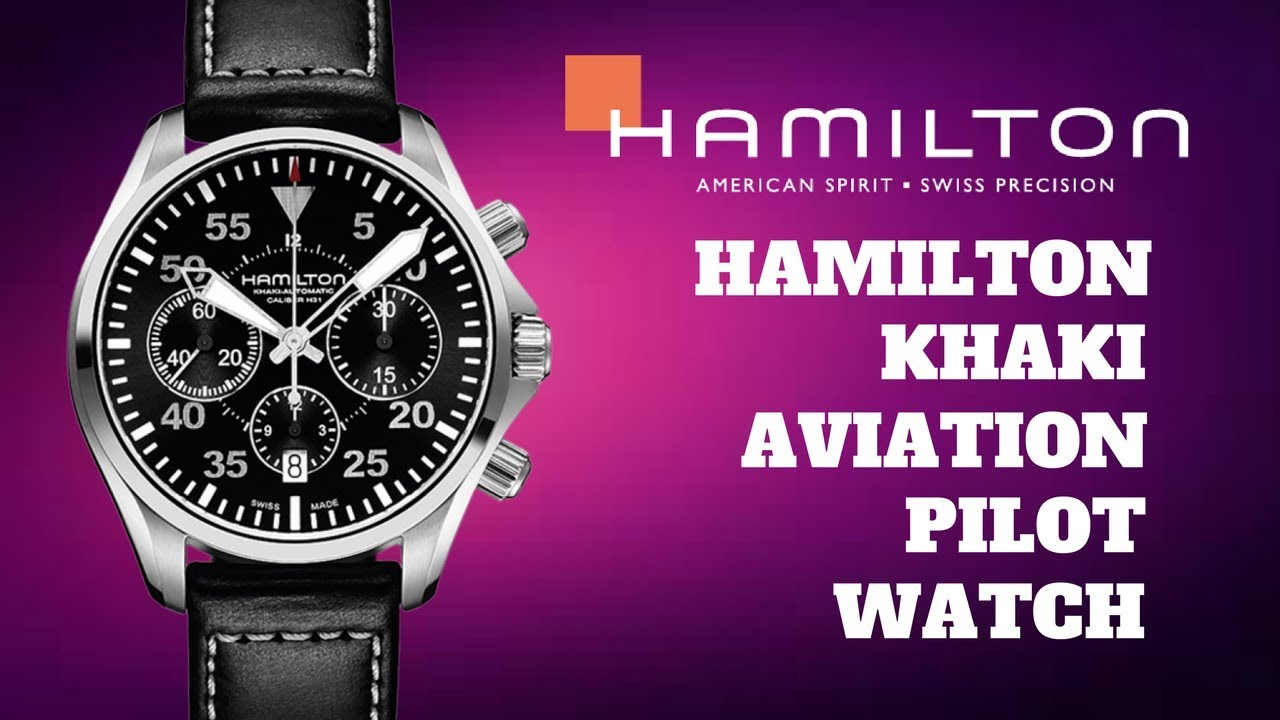 0853b252a (4K) HAMILTON KHAKI AVIATION PILOT CHRONO MEN'S WATCH MODEL: H64666735