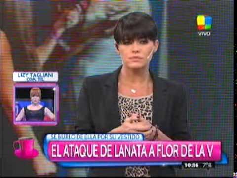Lizy Tagliani apuntó contra Lanata por su ofensa a Flor de la V