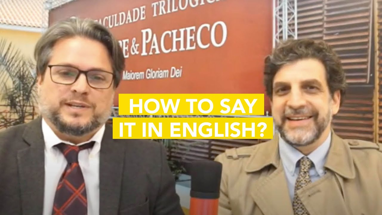 How to say It in English