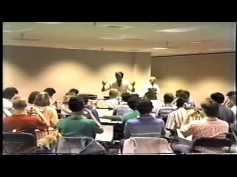 Needham Broughton High School Band-Rehearsal Footage from 1987