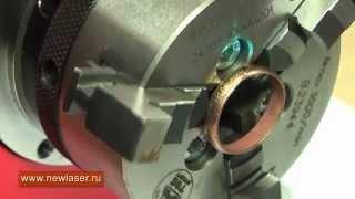 Гравировка на кольце www.newlaser.ru Laser engraving of gold rings.